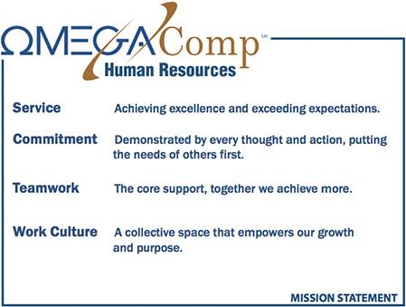 image of omega comp human resources mission statement